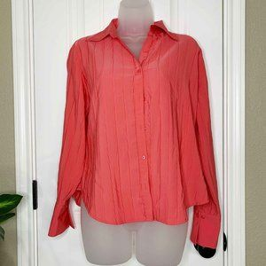 🧡 CATO spring summer button down tshirt size M